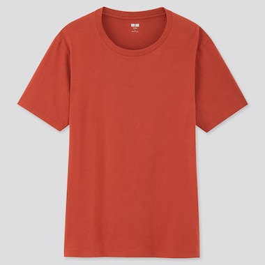 Men Supima© Cotton Crewneck Short-Sleeve T-Shirt, Orange, Medium