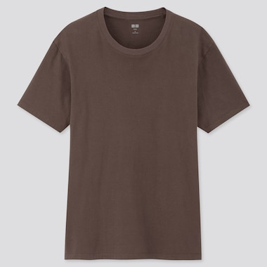 Men Supima© Cotton Crewneck Short-Sleeve T-Shirt, Dark Brown, Medium