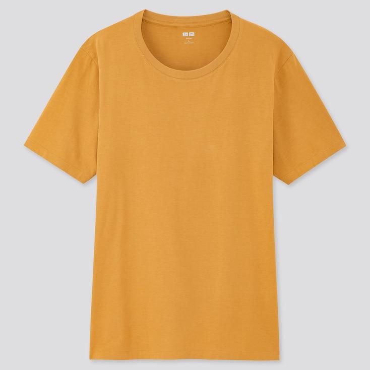 Men Supima® Cotton Crew Neck Short-Sleeve T-Shirt, Yellow, Large