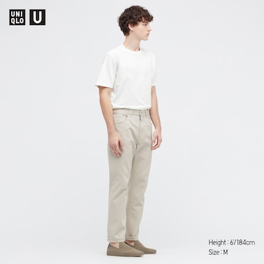 Men U Crew Neck Short-Sleeve T-Shirt, White, Medium