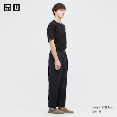 U Crew Neck Short-Sleeve T-Shirt, Black, Medium