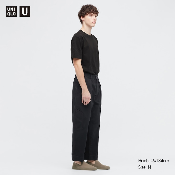U Crew Neck Short-Sleeve T-Shirt, Black, Large