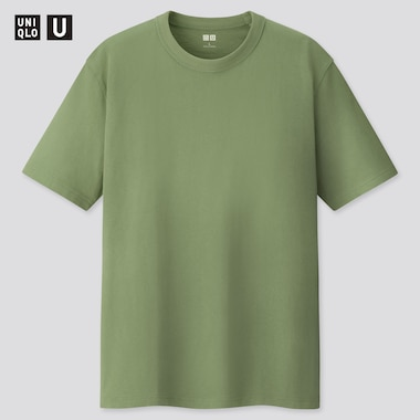 U Crew Neck Short-Sleeve T-Shirt, Green, Medium