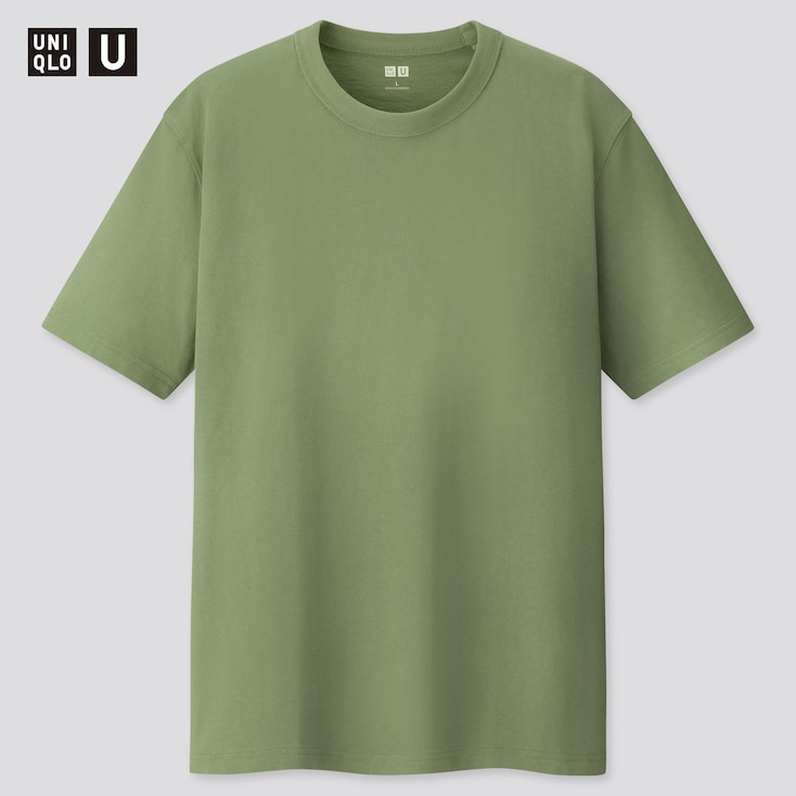 U Crew Neck Short-Sleeve T-Shirt, Green, Large