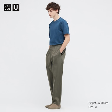 U Crew Neck Short-Sleeve T-Shirt, Blue, Medium