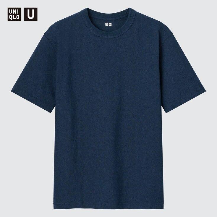 U Crew Neck Short-Sleeve T-Shirt, Blue, Large
