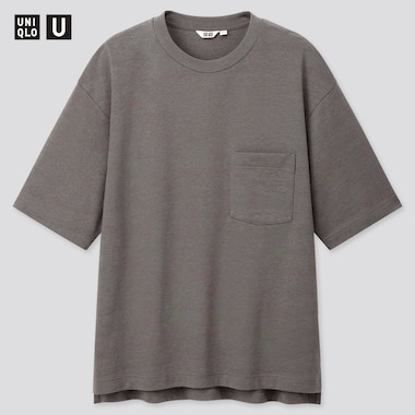 MEN UNIQLO U OVERSIZED FIT CREW NECK SHORT SLEEVED T-SHIRT