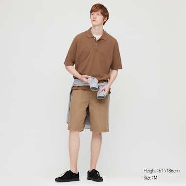 Men Cotton Piqué Oversized Fit Polo Shirt