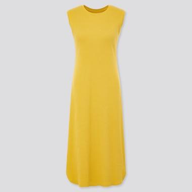 Women Waffle Sleeveless Longline Bra Dress