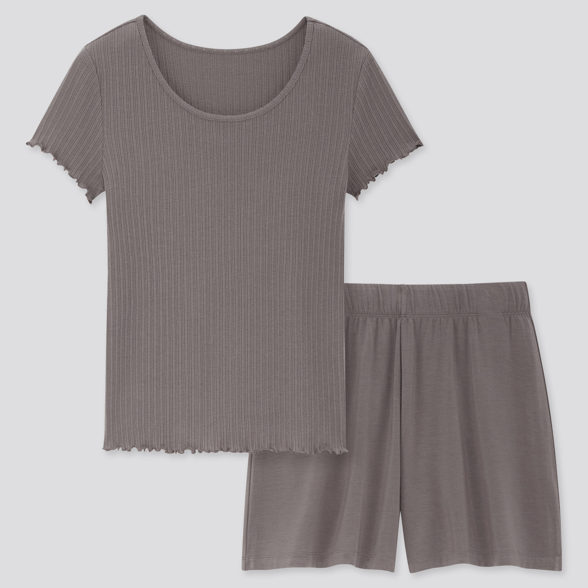 Women Pointelle Short Sleeved Lounge Set