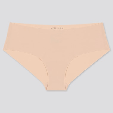 Women Airism Ultra Seamless Hiphugger, Beige, Medium