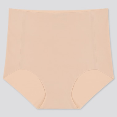 Women Airism Ultra Seamless High-Rise Briefs, Beige, Medium