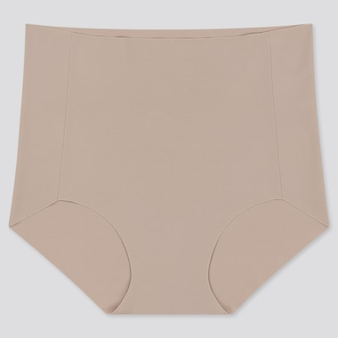 Women Airism Ultra Seamless High-Rise Briefs, Khaki, Medium
