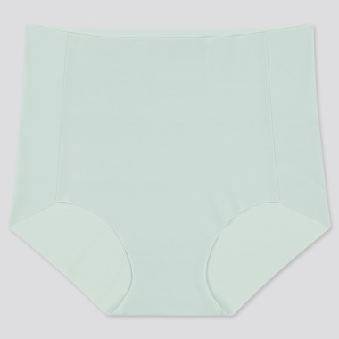 Women Airism Ultra Seamless High-Rise Briefs, Green, Medium