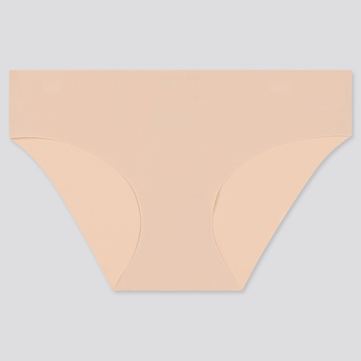 Women Airism Ultra Seamless Bikini, Beige, Large