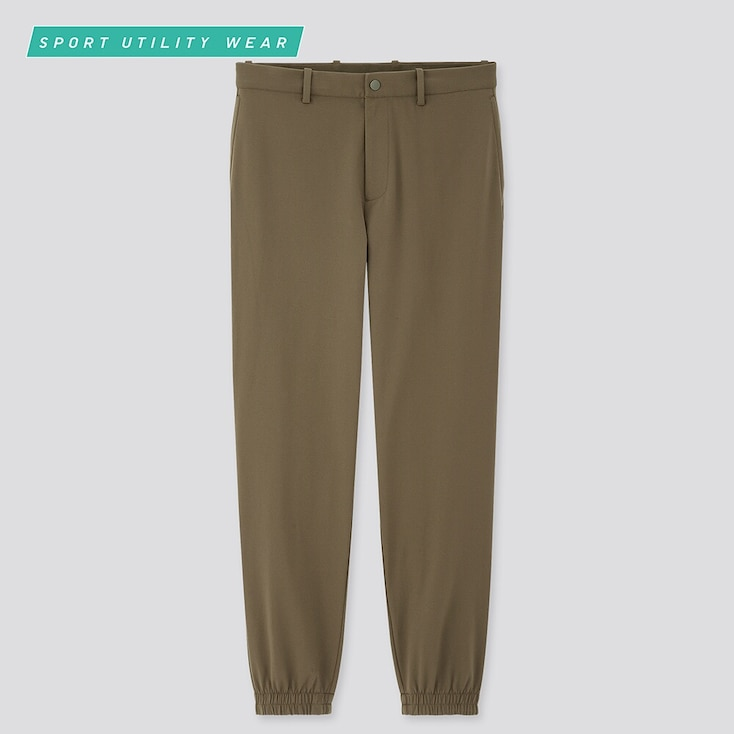 Men Ezy Dry-Ex Jogger Pants, Olive, Large