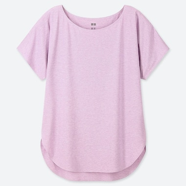 WOMEN AIRISM SEAMLESS CREW NECK LONGLINE T-SHIRT