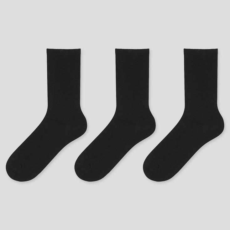 Women Socks (3 Pairs), Black, Large