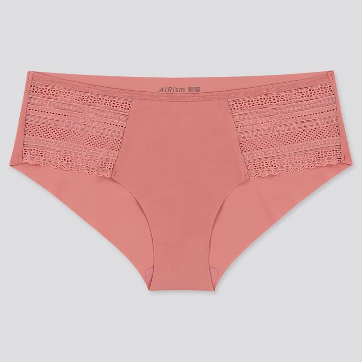 Women Airism Ultra Seamless Hiphugger, Pink, Large