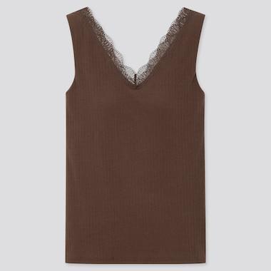Women Pointelle Low Back Lace Sleeveless Bratop