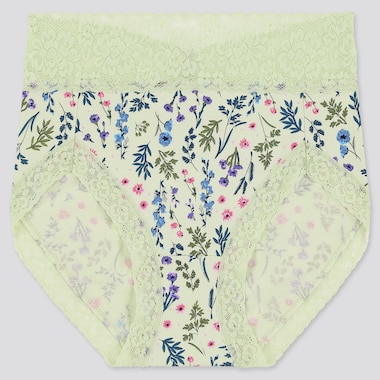 Women High Rise Flower Print Briefs