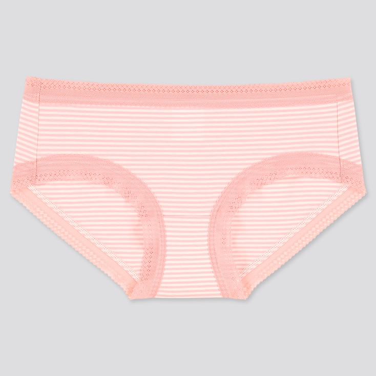 Women Striped Hiphugger, Pink, Large