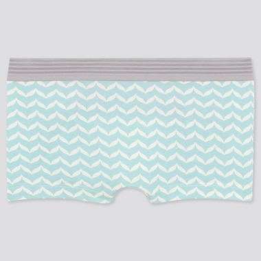 Women Wave Boy Shorts, Green, Medium