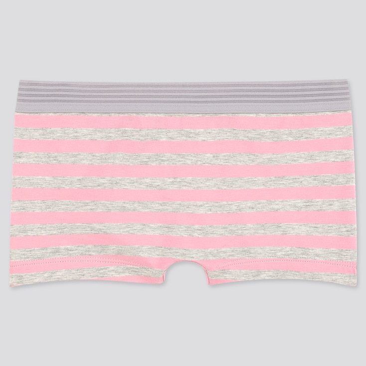 Women Striped Boy Shorts, Pink, Large