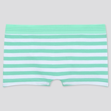 WOMEN STRIPED BOY SHORTS, GREEN, medium