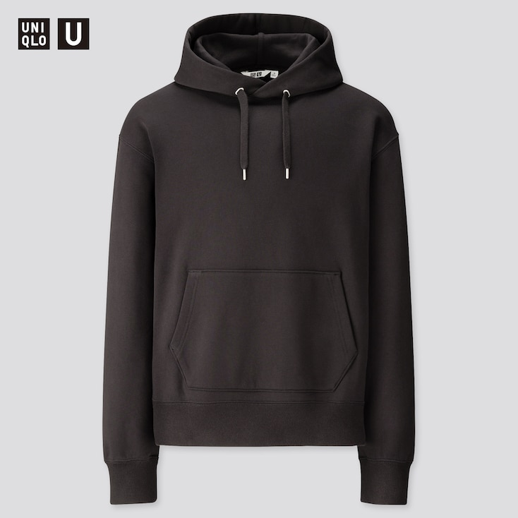 Men U Wide-Fit Long-Sleeve Sweat Pullover Hoodie, Black, Large