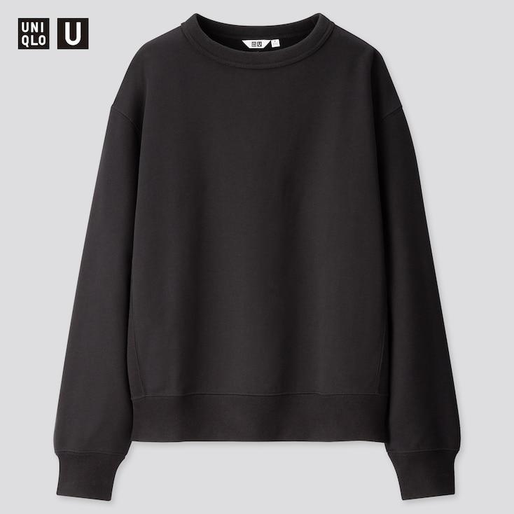 Men U Wide-Fit Long-Sleeve Sweatshirt, Black, Large