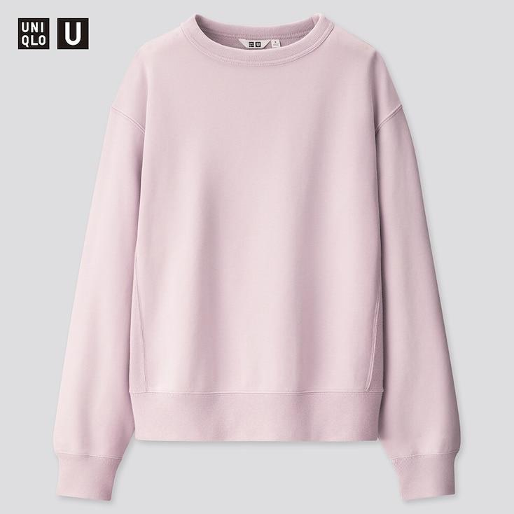 Men U Wide-Fit Long-Sleeve Sweatshirt, Purple, Large