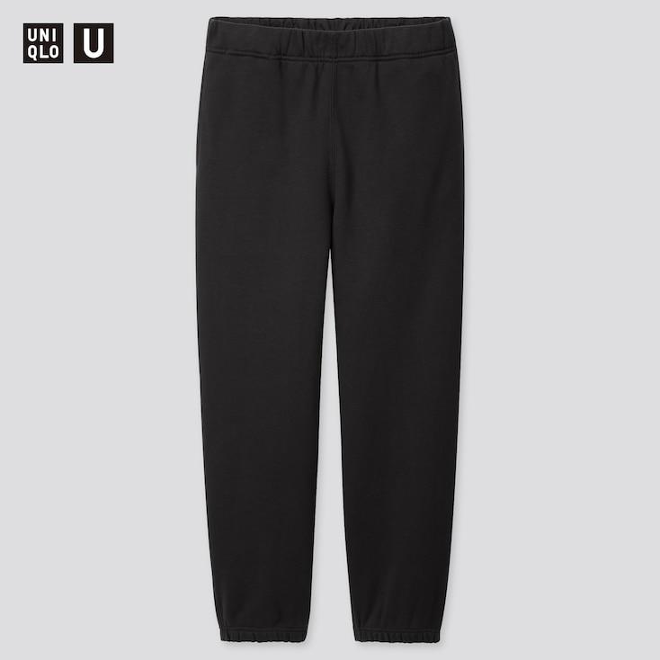 Men U Wide-Fit Sweatpants, Black, Large