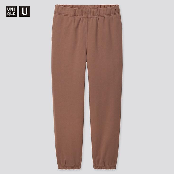 Men U Wide-Fit Sweatpants, Brown, Large