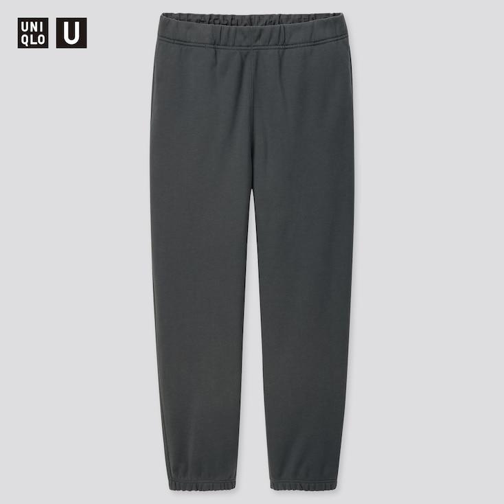 Men U Wide-Fit Sweatpants, Blue, Large