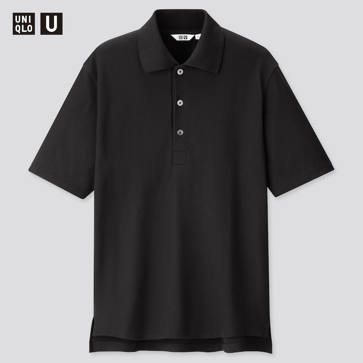 Men U Supima© Cotton Short-Sleeve Polo Shirt, Black, Large