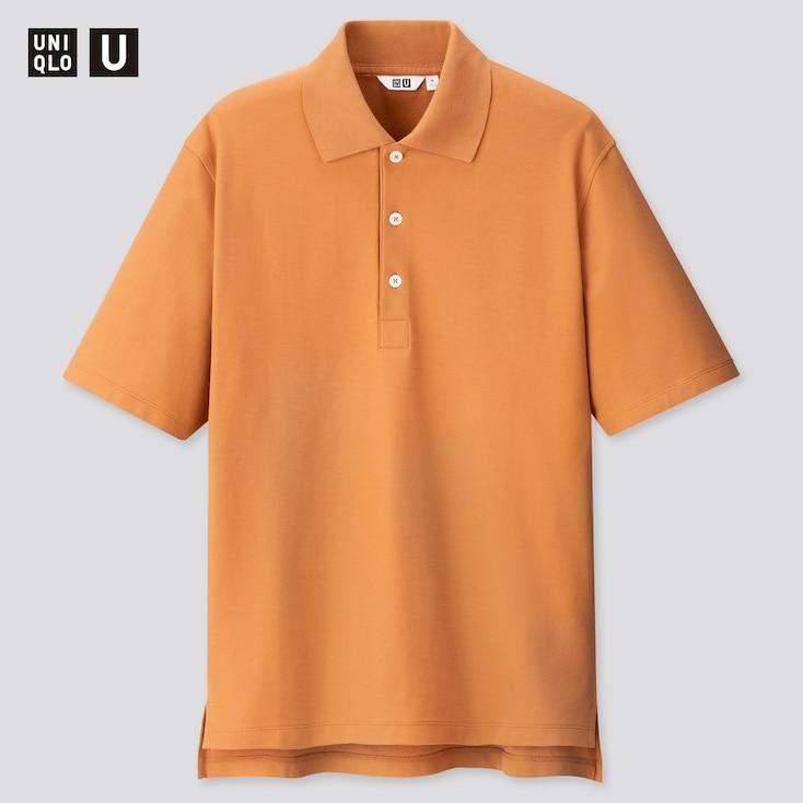 Men U Supima® Cotton Short-Sleeve Polo Shirt, Orange, Large
