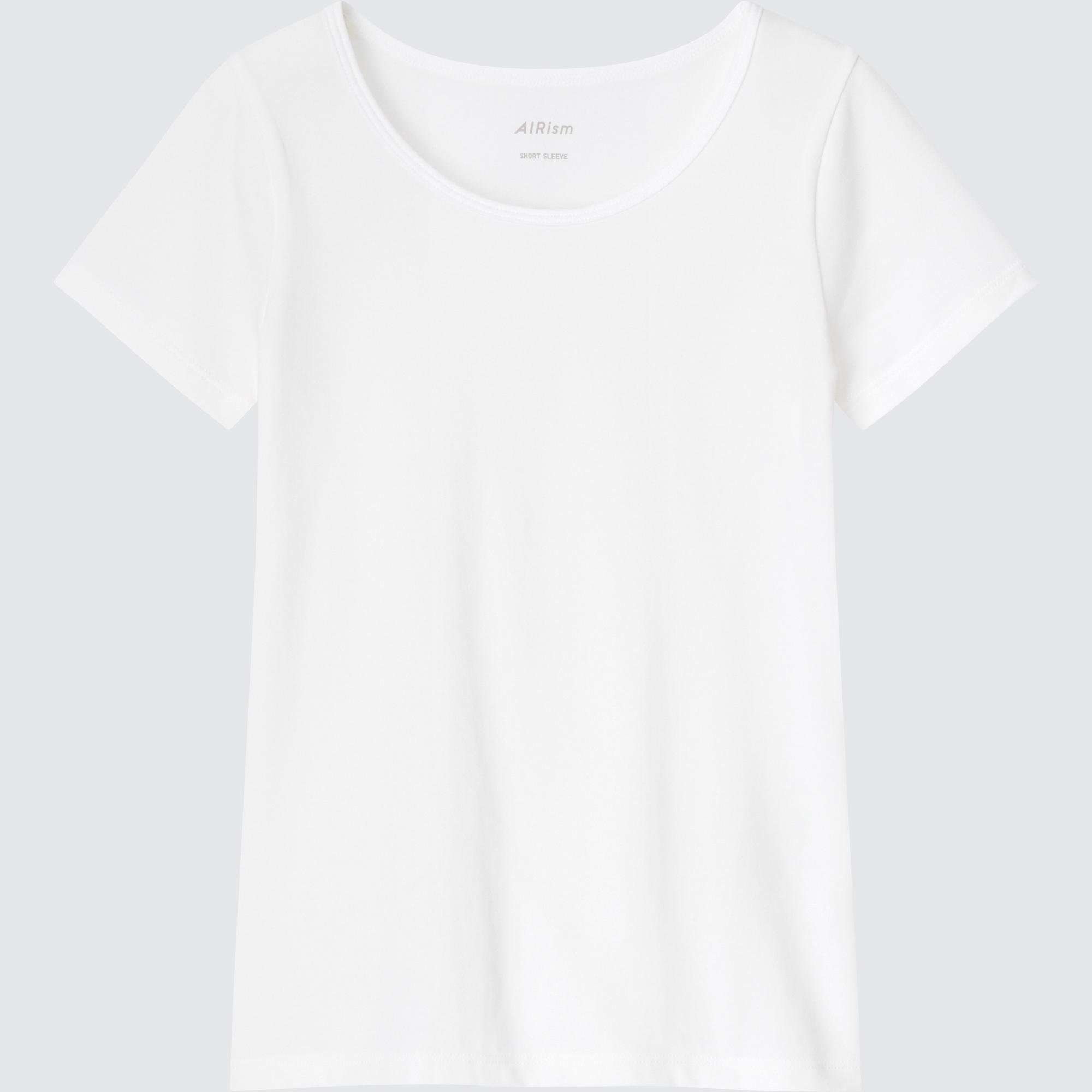 Uniqlo KIDS AIRISM COTTON BLEND SHORT-SLEEVE SCOOP NECK T-SHIRT