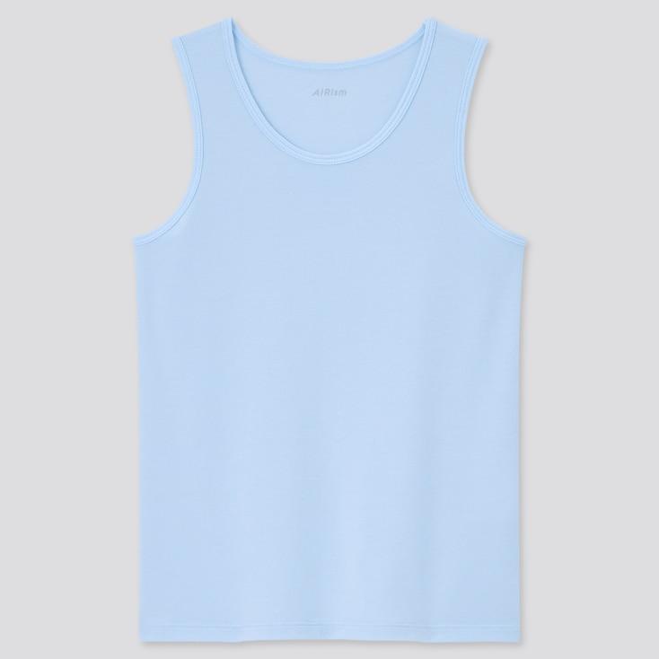 Kids Airism Cotton Blend Tank Top, Blue, Large
