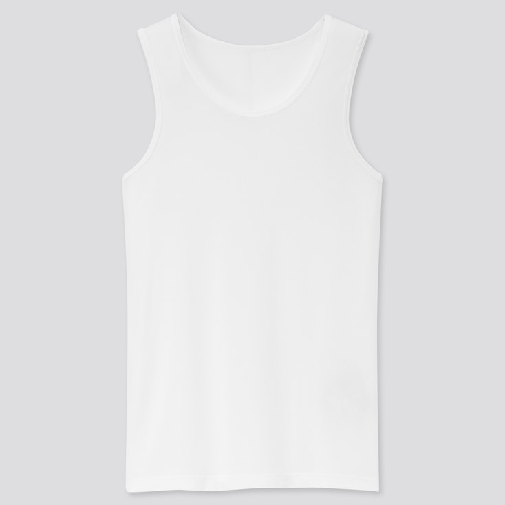 Kids Airism Mesh Tank Top, White, Large