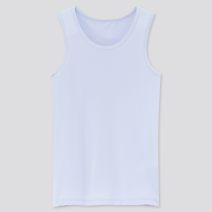 Kids Airism Mesh Tank Top, Light Blue, Large
