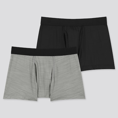 Kids Airism Boxer Briefs (Set Of 2) (Online Exclusive), Gray, Medium
