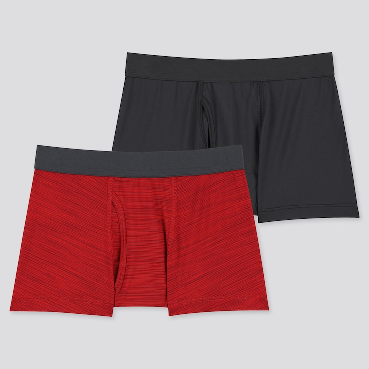 Kids Airism Boxer Briefs (Set Of 2) (Online Exclusive), Red, Large