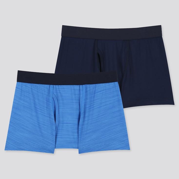 Kids Airism Boxer Briefs (Set Of 2) (Online Exclusive), Blue, Large