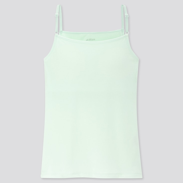 Girls Airism Bra Top Camisole, Light Green, Large