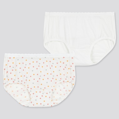 Girls Airism Shorts (Set Of 2), Off White, Medium