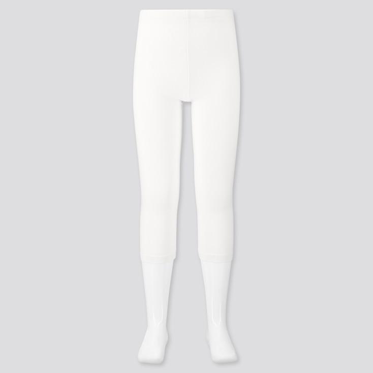 Girls Dry Cropped Leggings, Off White, Large