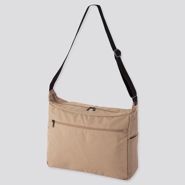 Shoulder Bag, Beige, Large