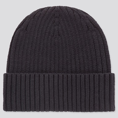 Rib Beanie, Navy, Medium