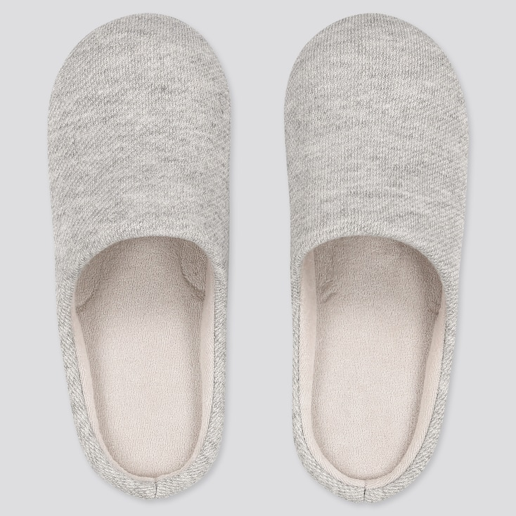 Slippers, Gray, Large